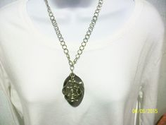 Item 1741-Upcycle Tablespoon Necklace with Rose Pendant. Sells for $12.00. Get a link to my Website ecrater.com at the top of my Page and order with Pay Pal. FREE SHIPPING AND HANDLING.