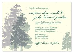 Red Wood Wedding Invitations with Trees (seed paper) Bear Wedding, Woodsy Wedding, Wedding In The Woods, Wedding Ideas, Wedding Planning, Handmade Wedding Invitations, Wedding Invitation Sets, Invites, Popular Tree