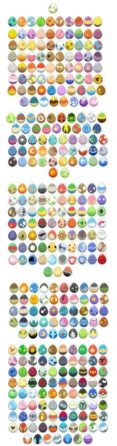 Pokemon eggs; Pokemon