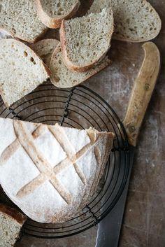 Aurinkoinen spelttileipä hapanjuureen   Resepti Baking Stone, Vintage Cooking, Sourdough Recipes, Orange Zest, Artisan Bread, Fodmap, Oven Baked, Bread Baking, Tray Bakes