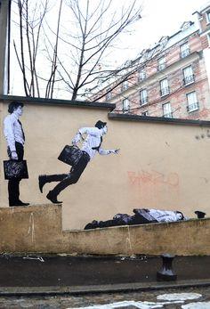 Levalet Street Art: French Artist Charles Leval #streetart jd