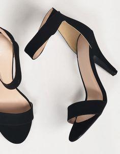 Velcro Ankle Strapped Open Toe Heels