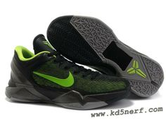 5dc4111a78c97f Air Foamposite Nike Zoom Kobe 7 Black Volt Cool Grey  Nike Zoom Kobe 7 - It  features a mostly black upper that is highlighted with volt undertones.