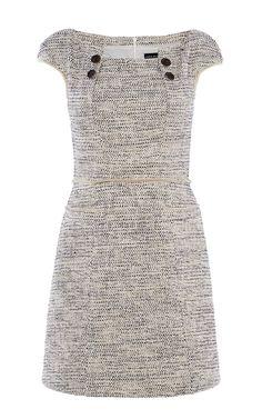BOUCLÉ TWEED SHIFT DRESS | Luxury Women's new-in_garments | Karen Millen