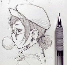 Exhilarating Pencil Drawing Supplies Techniques Ideas Learn Drawing cute drawing ideas for begin Art Drawings Sketches Simple, Pencil Art Drawings, Easy Drawings, Creative Sketches, Simple Drawings For Beginners, Simple Cute Drawings, Manga Drawing, Drawing Tips, Learn Drawing