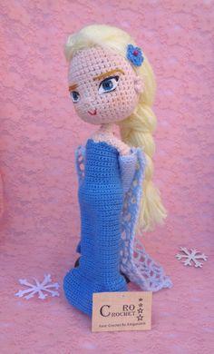Crochet Dolls Free Patterns, Crochet Hats, Elsa, Frozen, Dinosaur Stuffed Animal, Birthday, Animals, Amigurumi, Literatura
