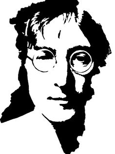 Afbeeldingsresultaat voor black and white pop art celebrity Stencil Wall Art, Stencils, White Art, Black And White, John Lennon Wall, Deco Originale, Stencil Patterns, Art Template, Scroll Saw Patterns