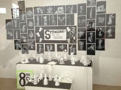 Styrofoam cup sculptures and drawings