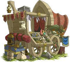 Traveling Merchant by Xhaztol.deviantart.com on @DeviantArt