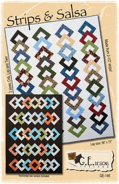 Salsa Strip To Be Square PDF Quilt Pattern by gerla on Etsy