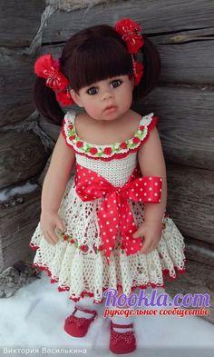 Вязаные платья для девочек от Виктории Василькиной вязание и схемы вязания