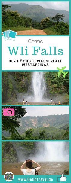In der Volta Region von Ghana gibt es zahlreiche Wasserfälle und ich liebe Wasserfälle. Deshalb war es für mich ein Muss auch den höchsten Wasserfall Westafrikas – den Wli Falls – zu sehen. Er hat Fallhöhe von ca. 65 m und liegt direkt an der Grenze von Togo. Das Wasser kommt also aus Togo und fällt in Ghana hinunter. #WliFalls #WasserfallWestafrika #Ghana #VoltaRegion