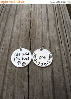 A personal favorite from my Etsy shop https://www.etsy.com/listing/398351675/summer-time-sale-hand-stamped-pet-id