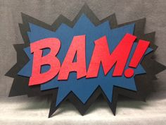 LARGE Comic Book BAM Quote Wall Art/Plaque by WoodWearbyandrea, $25.00