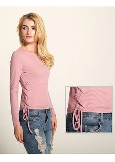 Womens Autumn Casual Long Sleeve Knitwear Round Collar Shirt Blouse Tee Tops New #KnitTop #Casual