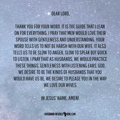 Prayer: Your word tells us