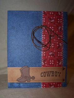 Cowboy card   --  Handmade Western Style   http://creativehandmadecollections.blogspot.com