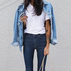 Double denim inspired  #happyweekend