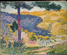 Valley with Fir (Shade on the Mountain) Henri-Edmond Cross (Henri-Edmond Delacroix) (French, Douai 1856–1910 Saint-Clair)