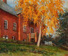 """Watercolour by the Grand Duchess Olga Alexandrovna Romanova of Russia. """"AL"""""""