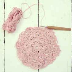 doily in progress, ByHaafner