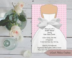 This listing is for a special Bridal Shower or Wedding invitation supplied to you as a digital file. I design it and YOU print as many as you need!  One high-quality 300DPI RGB JPEG invitation (electronically) in 5x7 format, ready to print! (nothing will be shipped to you) *I designed this invite to add a real 5/8 ribbon bow attached or applied by you to make it a very special & unique invitation. If you rather I can leave on the digital bow so all you have to do is print & ship.  Once…