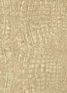 Alligator Print Metallic Gold Wallpaper