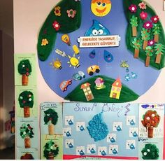 İlkokul proje Earth Day Activities, Preschool Activities, Easy Diy Crafts, Recycled Crafts, Letter T Worksheets, Earth Day Posters, Spring Bulletin Boards, Earth Day Crafts, Historical Artifacts
