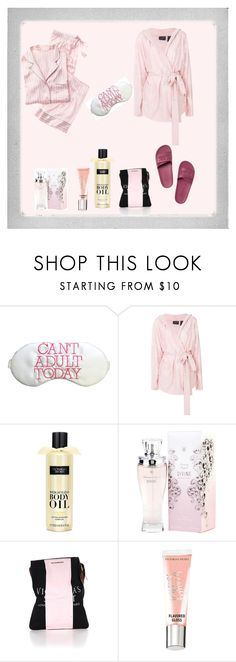 """Day in bed"" by chauert ❤ liked on Polyvore featuring Polaroid, Puma and Victoria's Secret"