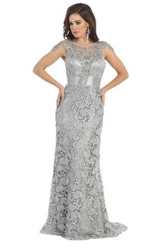 Bohemian Mother of the Bride Groom Lace Plus Size Long Formal Dress - The Dress Outlet - 1