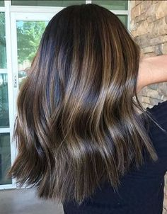 Trendy Hair Color Ideas 2018 : shiny brunette hair color - Fashion and Hairstyles Best Ombre Hair, Brown Ombre Hair, Ombre Hair Color, Hair Color Balayage, Cool Hair Color, Balayage For Asian Hair, Balayage Hair Brunette Straight, Ashy Balayage, Brunette Color