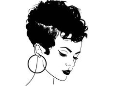beauty vector Afro Woman svg Princess Queen Afro Hair Beautiful African Am… - Modern Black Girl Art, Black Women Art, Black Girl Magic, Art Girl, Black Girls, Image Svg, Natural Hair Twist Out, Afro Art, Afro Hairstyles