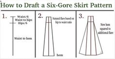 6 Panel Long Skirt with Pockets Tutorial. LOTS OF PICS - CLOTHING
