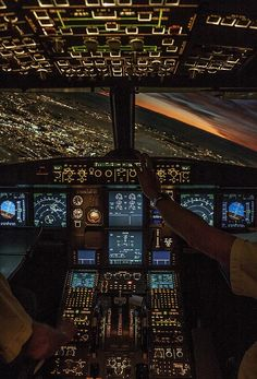 pilot's point of view::