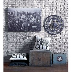 NY Type Cushion | Graham and Brown