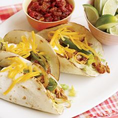 This chicken fajitas recipe is as delicious as it is easy.  *I doubled the bell peppers and onion, skipped the corn starch and cut the water and salt in half. Delicious!