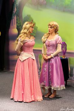 Aurora from Sleeping Beauty and Rapunzel from Tangled