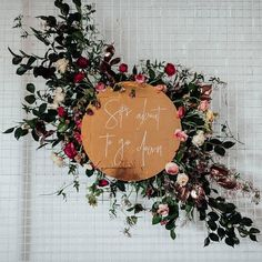 Appropriate wedding (and weekend) signage! Floral Wedding, Rustic Wedding, Wedding Flowers, Decor Wedding, Reception Decorations, Event Decor, Wedding Designs, Wedding Styles, Flower Installation