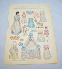 Antique Lettie Lane Paper Doll Family, Lettie's Baby Sister, Original and Uncut, 1900s Ladies Home Journal Page by UpswingVintage on Etsy