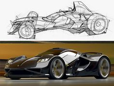 Car drawing and rendering by Scott Robertson