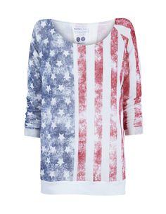 sudadera estampado bandera USA