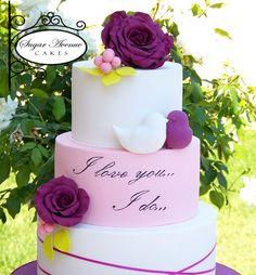 Wedding cake with bird
