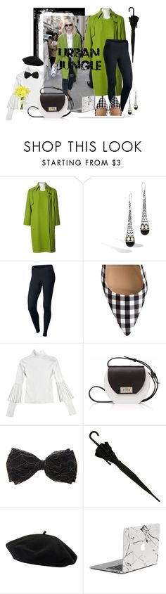 """urban jungle"" by marbau ❤ liked on Polyvore featuring Thierry Mugler, John Hardy, White Label, NIKE, Joanna Maxham, Goorin and Pavilion Broadway"