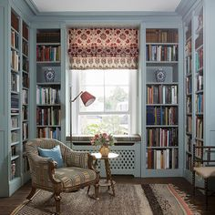 Beautiful Interior Design, Beautiful Interiors, Beautiful Homes, Art Deco Chair, Library Furniture, Character Home, Stuck, Reading Room, Book Nooks