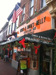 Chick and Ruth's Delly-- Annapolis, MD-- The Pledge of Allegiance is recited by all patrons and staff at 8:30 am