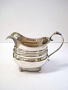 Antique sterling silver creamer