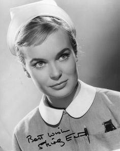 Staff Nurse Dorothy Denton - Shirley Eaton - Carry On Nurse 1959 English Actresses, British Actresses, British Actors, Actors & Actresses, British Comedy Films, British Men, Best Bond Girls, Shirley Eaton, Thing 1