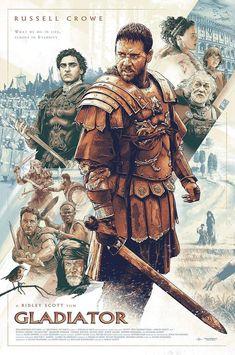 Gladiator (2000) [1118 × 1686] by Aurelio Lorenzo - MoviePosterPorn Marvel Movie Posters, Disney Movie Posters, Original Movie Posters, Movie Poster Art, Film Posters, Gladiator 2000, Gladiator Movie, Gladiator Cast, Old Bollywood Movies