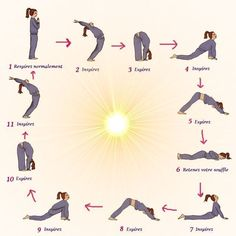 Easy Yoga Workout - salutation Get your sexiest body ever without,crunches,cardio,or ever setting foot in a gym Yoga Fitness, Fitness Workouts, Sport Fitness, Fitness Wear, Yoga Meditation, Yoga Flow, Yoga Routine, Yoga A Diario, Yoga Inspiration