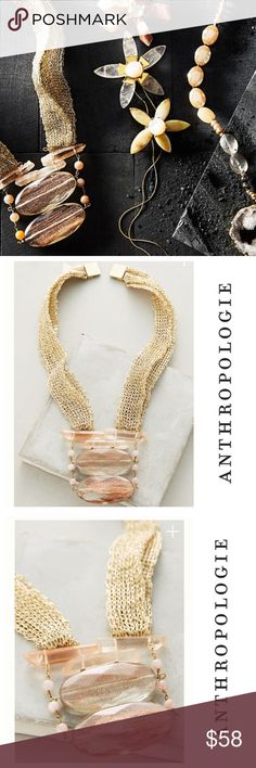 Anthropologie Luma Gold Mesh Necklace NWT Anthropologie Luma Gold Mesh Necklace NWT  --- Details in last image Anthropologie Jewelry Necklaces
